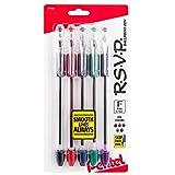 Pentel R.S.V.P. Ballpoint Pen, Fine Line, Assorted Ink, 5 Pack  (BK90BP5M)