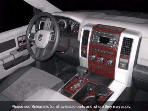 - Dodge RAM 1500 2500 3500 INTERIOR BURL WOOD DASH TRIM KIT SET 2009 2010 2011 2012