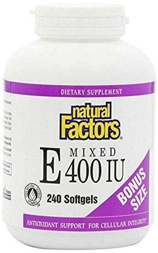 Natural Factors - Vitamin E Mixed 400 IU, Antioxidant Support for Cellular Integrity, 240 Soft Gels