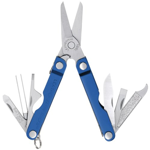 - Leatherman 64340103k Micra Series Keychain Multi-Tool, Blue