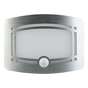 Hallomall Luxury Aluminum Case Wireless Stick Anywhere Battery Powered Motion Sensor Lights/ Wall Sconce/ Spot Lights/ Hallway Night Light- 1 Pack