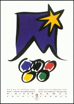 Albertville 1992 Winter Olympics Poster 1992 Albertville Olympics