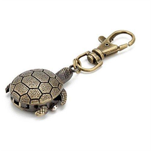 EinCar Alloy Quartz Bronze Keychain Turtle Hanging Pocket (Car Keychain Watch Gift)