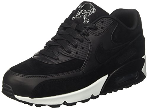 Nike Air Max 90 Premium, Sneaker Uomo Nero (Black/Off White)