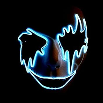 Leisurely Lazy El Wire Glowing Mask Luminous LED Light Up Cool ...