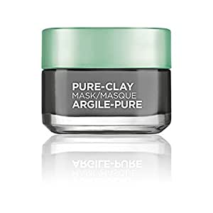 L'Oréal Paris Pure-Clay Energizing and Brightening Face Mask, Charcoal Mask, 50 mL
