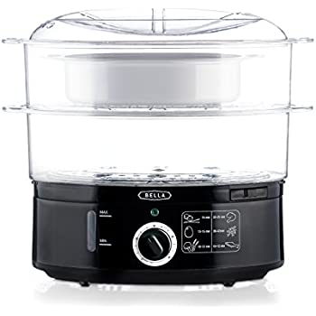 BELLA BLA13872  7.4 Quart Healthy Food Steamer, Dual Basket