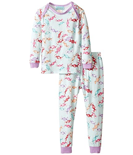 BedHead Kids Baby Girl's Long Sleeve Long Pants Set (Infant) Taffy Pajama Set 3-6 Months