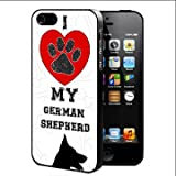 Best Nue Design Cases Friend 5c Phone Cases - I Love My German Shepherd With Red Heart Review