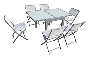 Quality Ferreteria Plus M279699 Table Carrée Extensible en Aluminium ...