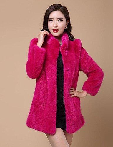GA&GA Cappotto di pelliccia Da donna Casual Inverno Semplice