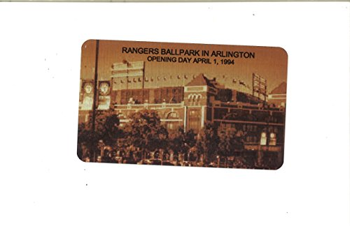 Rangers Ballpark in Arlington Texas Rangers Image Commemorative Metal Plaque 4x6 Metal Plate - Arlington Texas Ballpark Rangers