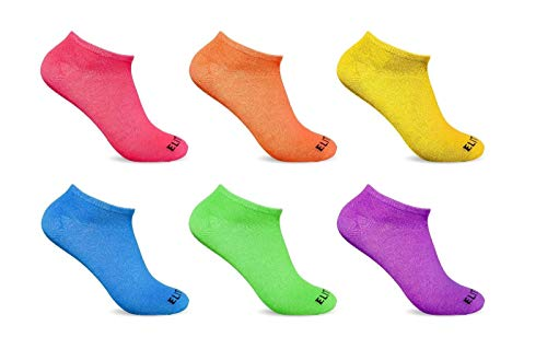 6 Pairs Ankle Socks Multi-Color Women's Low Cut No Show Ankle Wholesale lot 9-11 Shoes Accessories Socks for Women Needed from funfashion