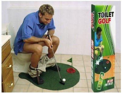 Golf Wc Mat.Toilet Bathroom Mini Golf Mat Set Game Potty Putter Cj29