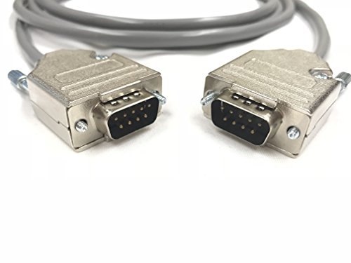 10 Foot DB9 Male to Male 22 AWG Serial Gray PVC Cable Made in USA by Custom Cable Connection