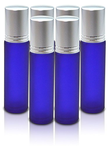 New Elegant Frosted Glass Roller Bottles with Stainless Steel Roller Ball & Brushed Aluminum Cap 10 ML For Perfume - Lip Balm - Aromatherapy - Essential Oils - Deodorant (6)