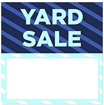 12x12 5-Pack Yard Sale Stripes Blue Window Cling CGSignLab