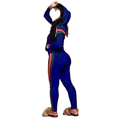 Top-Vigor Women's 2 PCS Plus Size Tracksuit Sets Sweatsuits Outfits Hoodie Sweatshirt and Jogging Sweatpants Suit at Women's Clothing store