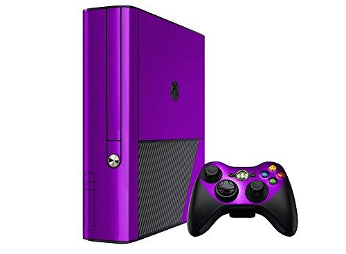 (Microsoft Xbox 360 Skin (360E) (3rd Gen) - NEW - PURPLE CHROME MIRROR system skins faceplate decal mod)