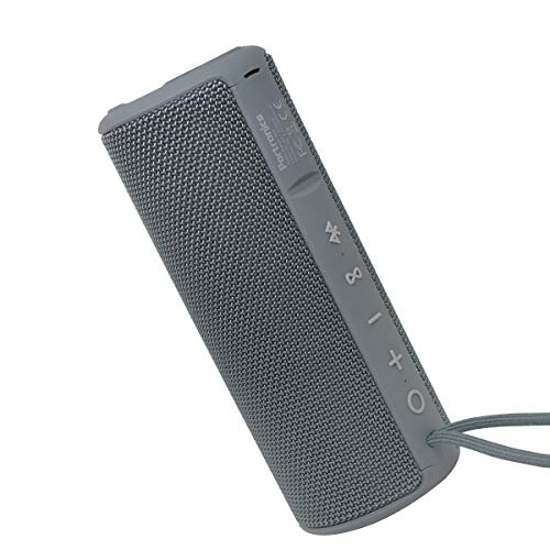 Portronics Breeze Plus 20W Bluetooth Portable Stereo Speaker with TWS, Aux in, Water Resistant, 2500mAh Battery, Grey