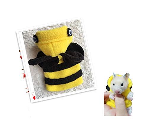 Khemn Designer Rat Coat (Bee-Costume) with Thick Polar Fleece-Best for Rat Rat/Hamster/Squirrel/Guinea Pig (S) -