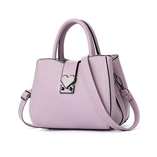Gwqgz Handbag Temperament And Generous Leisure Shoulder Bag Yellow Violet