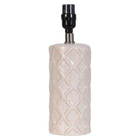 UPC 702992851799, Threshold™ Small Cream Lattice Ceramic Lamp Base