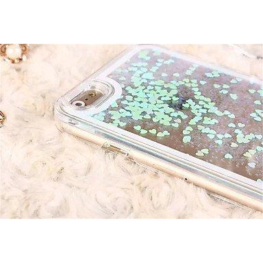 Fundas y estuches para teléfonos móviles, nuevo ! brillo líquido caso el amor romántico caja dura transparente para el iphone 6 / 6s casos (colores surtidos) ( Color : Verde , Modelos Compatibles : IP Oro