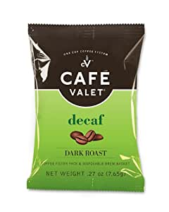 Cafe Valet Coffee for Cafe Valet Single Serve Brewers, Decaffeinated, 50 Count