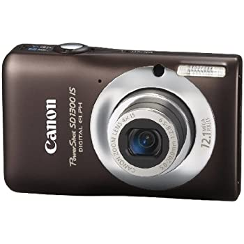 Canon PowerShot SD1300IS 12 MP Digital Camera with 4x Wide Angle Optical Image Stabilized Zoom and 2.7-Inch LCD (Brown)