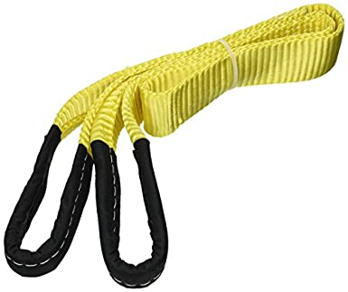 "6/' x 2/""  2-Ply Nylon Web Sling Lift Tow Strap Heavy Duty Polyester Web Loop Ends"