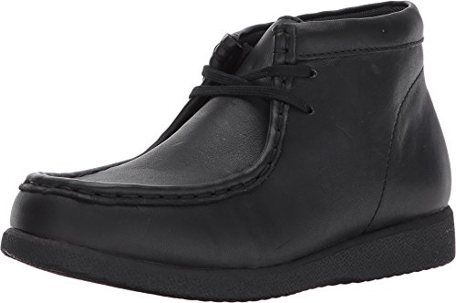 Hush Puppies Unisex-Kids Bridgeport III Chukka Boot, Black/Black, 3.5 Medium US Big Kid