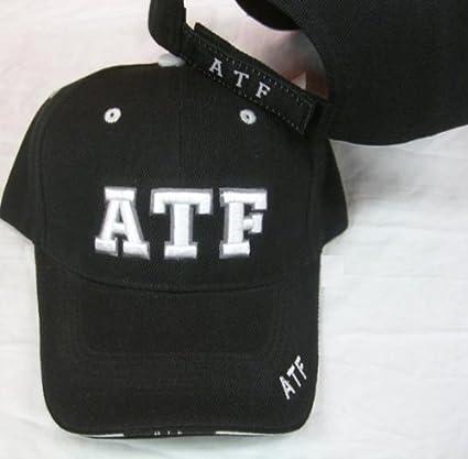 ea4f5134bca Amazon.com  ATF Alcohol Tabacco Firearms Embroidered Adjustable Hat Cap  Baseball Ball  Sports   Outdoors