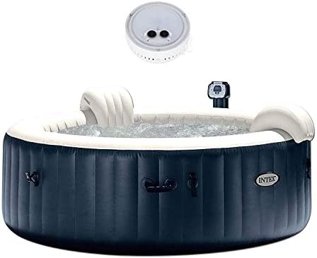 Intex 28409E PureSpa 6 Person Home Outdoor Inflatable Portable Heated Round Hot Tub Spa 85-inch x 28-inch