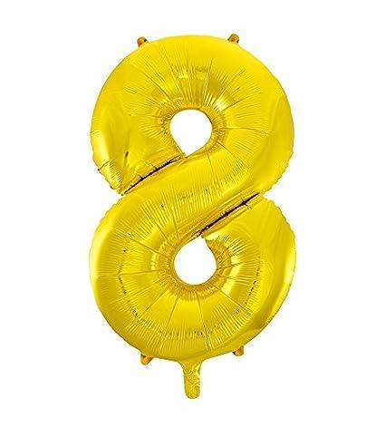 Unique Party 55760 - 34' Giant Gold Foil Number 0 Balloon