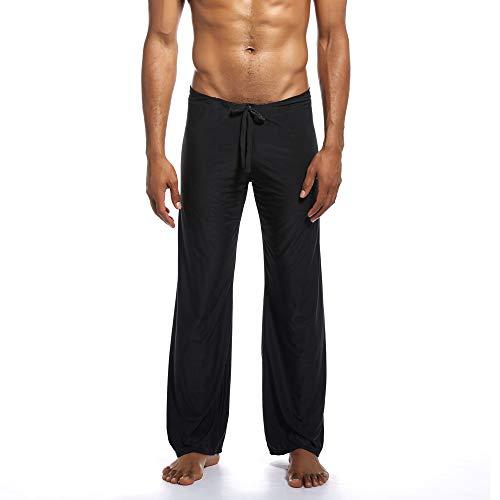 ANJUNIE Men's Pure Home Pants Yoga Pants Tie-up Comfortable -