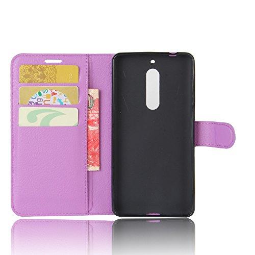 Qiaogle Teléfono Case - Funda de PU Cuero Billetera Clamshell Carcasa Cover para Meizu M5S / Meizu Meilan 5S (5.2 Pulgadas) - FC07 / Verde Moda Elegante estilo FC09 / Púrpura Moda Elegante estilo