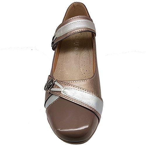 Slipper Riemen Schuhe Saphir Bequem auf Grau Kunstleder by Boutique Boutique Sapphire Keilabsatz Sapphire Sohle Kleiner Damen vq8x6wn