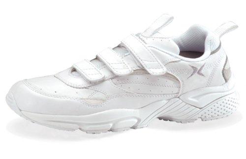 Aetrex Women's Lenex Triple Strap Walker Walking Shoes, White, 7 M - Triple Walker Strap Lenex