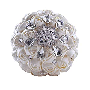 New Lee Wedding Bouquet,Multicolor Optional,High-end Diamond Bride Holding Flowers,Wedding Supplies,Artificial Flowers for Wedding, Party and Church 59