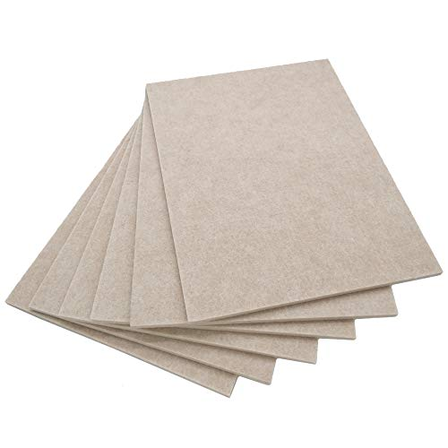 BXI Sound Absorber - Acoustic Absorption Panel - Polyester Fiber - Multiple Color Options - 16'' X 12'' X 3/8'' - 6 PACK (Camel)