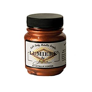 Jacquard Products Lumiere Fabric Paint 2 Oz. Jar: Metallic Copper