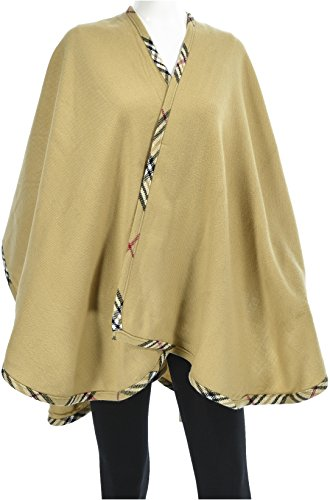 Hand By Hand Aprileo Women's Plaid Edge Poncho Ruana Shaw...