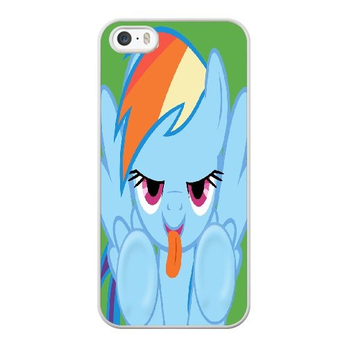 Coque,Apple Coque iphone 5/5S/SE Case Coque, Generic Rainbow Dash Licking Screen Cover Case Cover for Coque iphone 5 5S SE blanc Hard Plastic Phone Case Cover