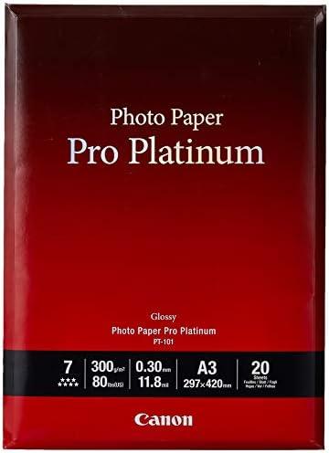 Canon PT-101, A3 Professionell Fotopapier Platinum (300 g/qm), 20 Blatt