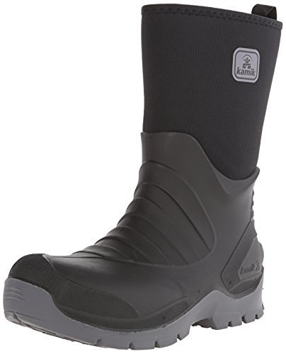 Kamik Men's Shelter Snow Boots Black 11 & Toe warmers Bundle (Shelter Toe Warmers)