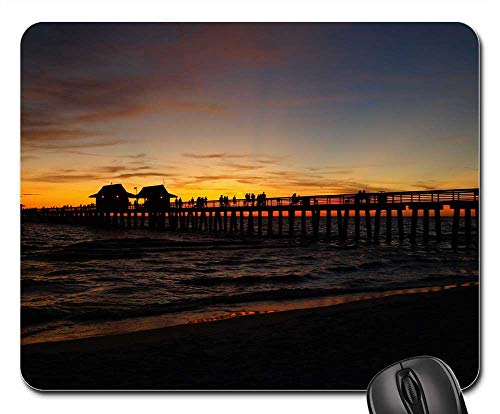 Mouse Pad - Sunset Sea Panorama Sun Setting Sun Water Clouds
