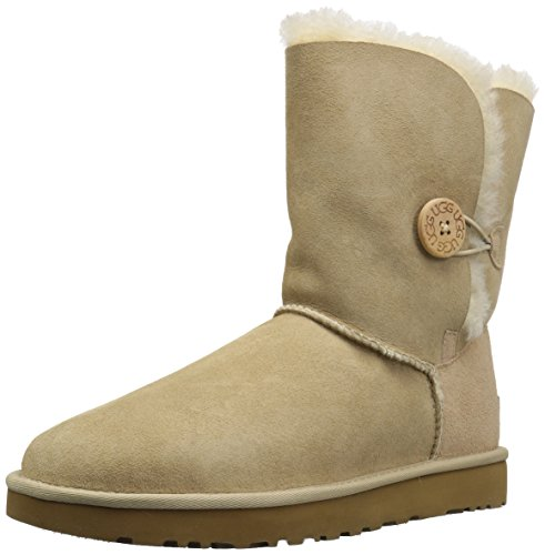 UGG Women's Bailey Button II Winter Boot, Sand, 6 M US