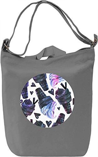 Hearts And Ice Creams Borsa Giornaliera Canvas Canvas Day Bag| 100% Premium Cotton Canvas| DTG Printing|