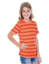 Kavio Youth Striped Jersey Crew Neck Short Sleeve Tee